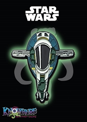 Star Wars Mandalorian Exclusive Pin - Jango Fett Slave I Ship Glow-in-the-Dark (Celebration 2019)